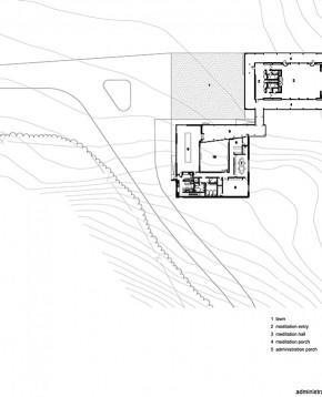 Administration and Meditation Hall plan