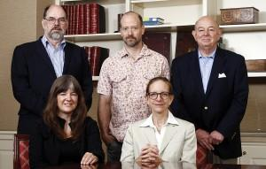 The 2012 Religious Art and Architecture Awards Jury, left to right: Rolf Rohn (liturgical design consultant); Susan Jones (architect); Erling Hope (artist); Elizabeth Plater-Zyberk (architect and jury chair); W. Joseph Mann (clergy).