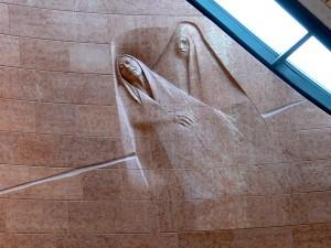 Detail of the 'Pious Women' by Guliano Vangi