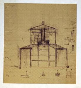 Kahn's sectional study of the sanctuary.