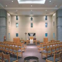 The interior of Lyke House Catholic Student Center