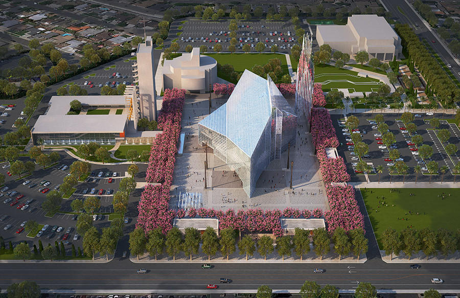 The new design recognizes the unique spiritual and physical heritage of the campus while creating a new center for Catholic worship.