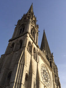 Behind the west façade of Chartres Cathedral is being perpetrated one of the worst atrocities of 'restoration,' according to the author.