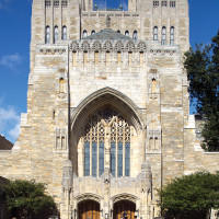To enter Sterling Library, designed in Collegiate Gothic style and completed in 1931, one first must pass through the portal into the nave.