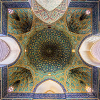 Ceiling of Jame Mosque Yazd