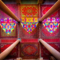 Columns Carpets and Light Nasir Al Mulk Shiraz
