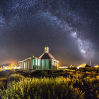 Emamzadeh Hassan and The Milky Way
