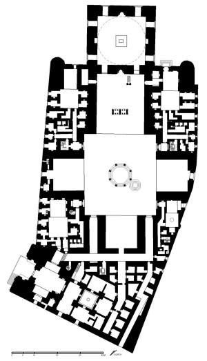 Plan of the Mosque of Sultan Hassan.