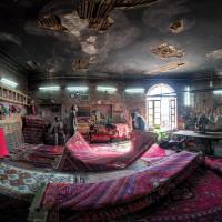 A carpet repair workshop