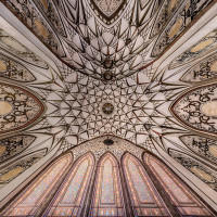Ceiling of Tabatabai Traditional Houses, Kashan