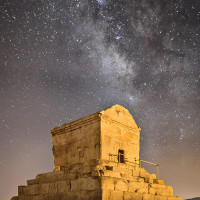 Tomb of Cyrus the Great At Night