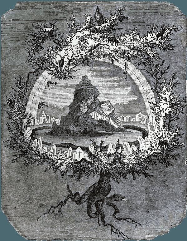 Yggdrasil World Ash Tree of Scandinavian mythology.