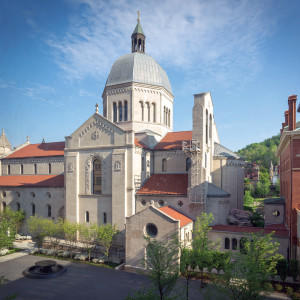 The new campus plan makes the cathedral the centerpiece of the experience.