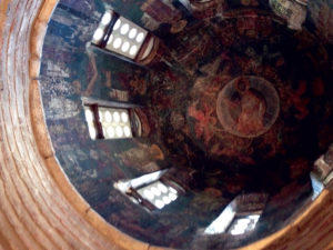 View into dome of the Church of the Savior