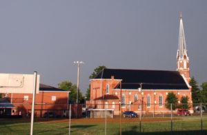 St. Joseph's Church before the tornado