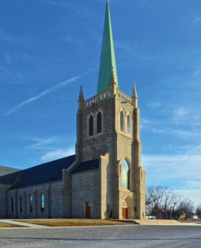 The newly constructed St. Kateri Tekakwitha Church
