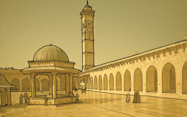 The Great Mosque of Aleppo, Syria