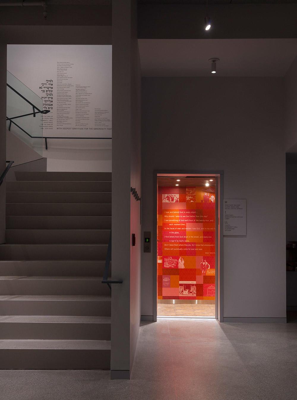 Elevator cab graphics