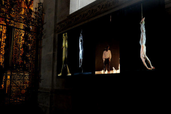 'Martyrs (Earth, Air, Fire, Water)' by Bill Viola. Photo: Cecilia Musmeci