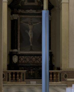 'Paschal Candle' by Ettore Spalletti. Photo: Carlo Vannini