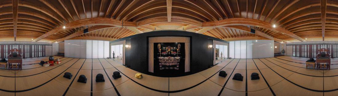Center of Gravity Foundation Hall Buddhist Temple; Jemez Springs, New Mexico; Predock Frane Architects.