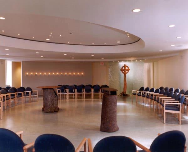 Interior of the redesigned Loretto Centre chapel