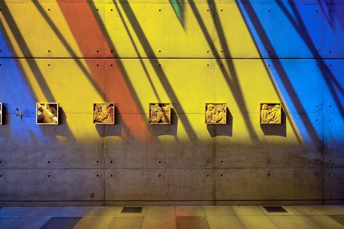 Cosmic-colored light in St. Gabriel's Church