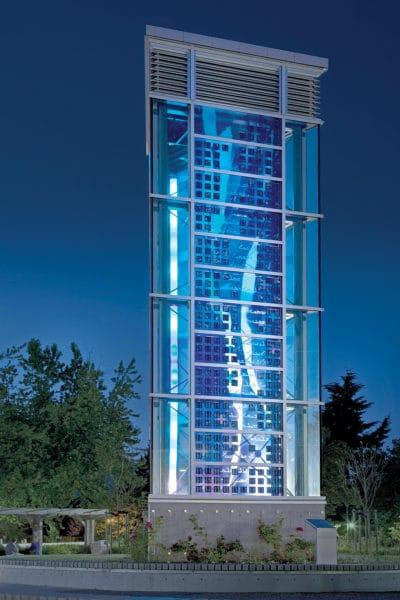 Lux Nova wind tower at Regent College, Vancouver, British Columbia