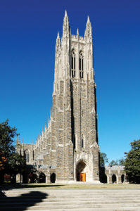 Duke University Chapel from main quad.