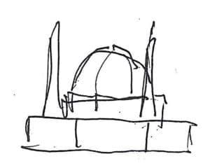 Sketch of proposed mosque design
