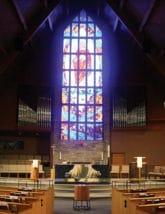 Interior view of First Lutheran Church, Onalaska, Wisconsin