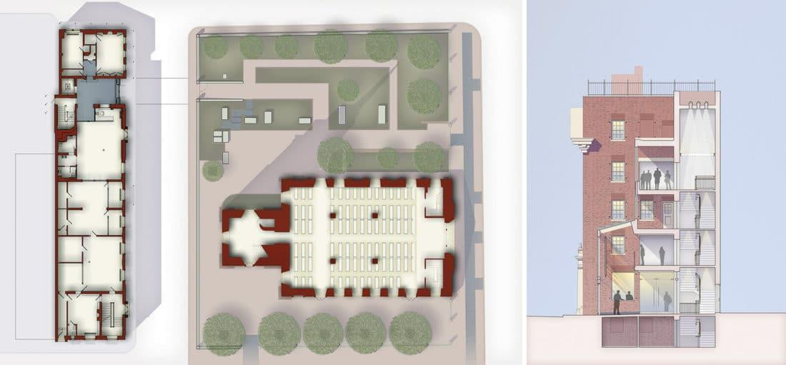 Plans of the Christ Church physical plant