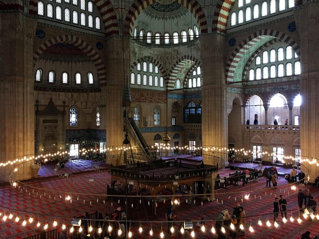 Interior of the Selimiye Mosque, Edirne, Turkey