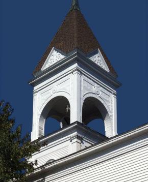 Steeple of Broad Bay Church