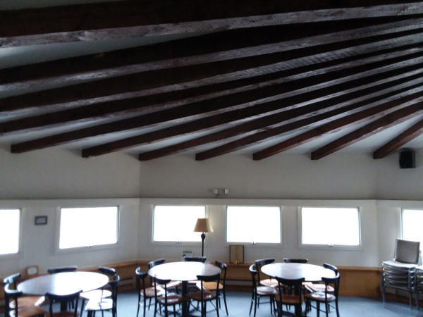 Fanned ceiling beams