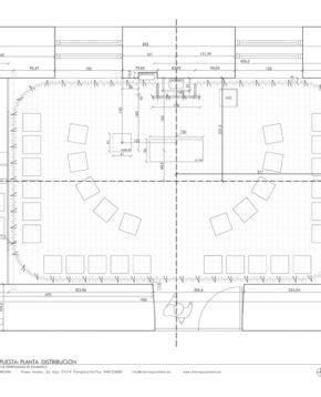 Plan of the new chapel defined by fabric walls.