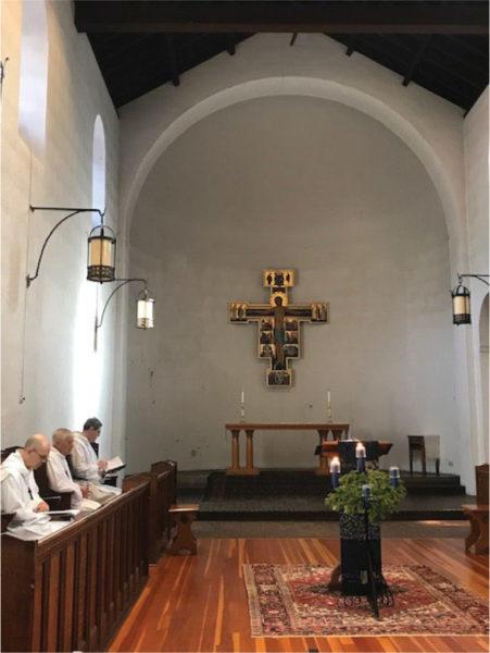 The chapel at Holy Cross Monastery