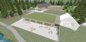 Proposed Great Hall and Library at the Isabella Freeman Jewish Retreat Center