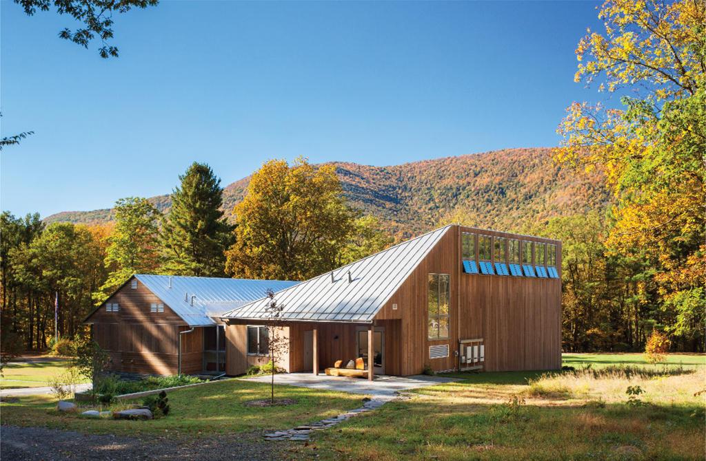 Welcome center at the Zen Mountain Monastery.