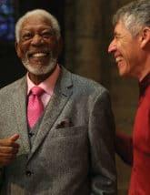 Morgan Freeman and Julio Bermudez