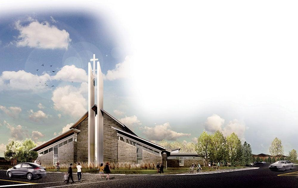 Design for exterior of Saint Benedict Church