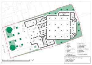 Cambridge Central Mosque floor plan